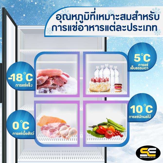 อุณหภูมิสำหรับแช่อาหารตู้เย็น